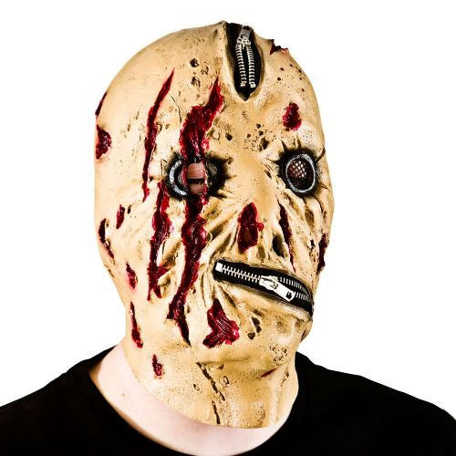 Adult Unisex Zipper Face Zombie Mask Masquerade for Disguise Fancy Dress